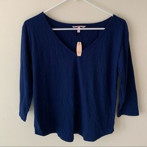 Victoria Secret Navy Long Sleeve Top | Small NWT